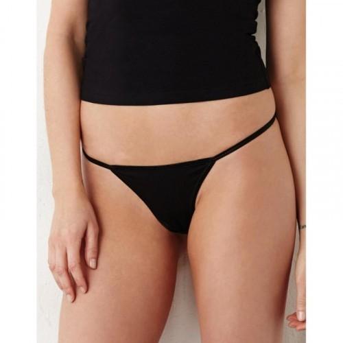 Cotton Spandex Thong Bikini
