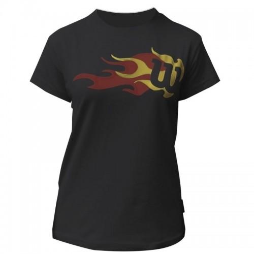 Tricou Wilson FLAME TEE negru, pentru juniori M