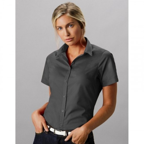 Women`s Tailored Fit Poplin Shirt SSL