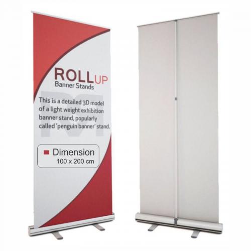 Sistem roll-up standard din aluminiu 100 x 200 cm