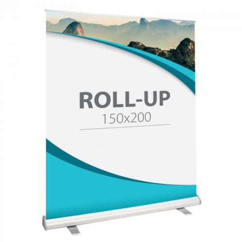 Sistem roll-up standard din aluminiu 150 x 200 cm